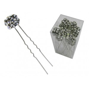 Forcella metallo cubo strass