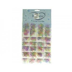 Elastici mini col. pastello 100 pz. CARD 24 blister